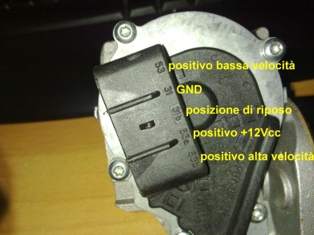 Schema Elettrico Tergicristallo 5 Fili : Contatti motorino tergi