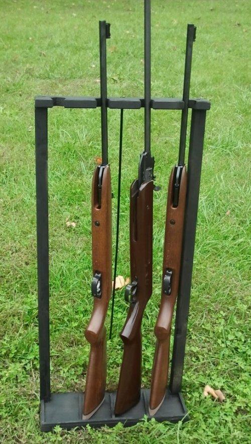 Costruiamo una rastrelliera da campo for Rastrelliera per fucili softair